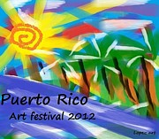 Puerto Rico Digital Art Originals - Puerto rico by Edwin Lopez