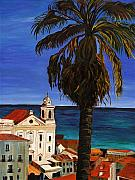 Palm Tree Paintings - Puerto Rico Old San Juan by Gregory Allen Page
