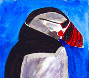 Puffin Paintings - Puffin by Zakai Ashkii