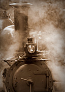 Autumn Photographs Photos - Puffing Billy in Sepia Tones by Tam Graff