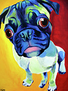 Dawgart Framed Prints - Pug - Lola Framed Print by Alicia VanNoy Call