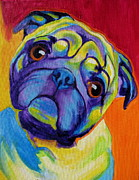 Alicia Vannoy Call Framed Prints - Pug - Lyle Framed Print by Alicia VanNoy Call
