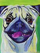 Alicia Vannoy Call Prints - Pug - Pugilicious Print by Alicia VanNoy Call