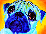 Animal Framed Prints - Pug - Sweetie Pug Framed Print by Alicia VanNoy Call