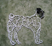 Black Sculpture Originals - Pug by Charlene White