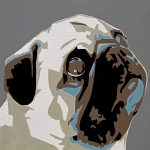 Pet Portraits Originals - Pug by Slade Roberts