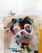 Mixed Media Collages Prints - Puged Print by Brian Buckley