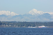 Puget Sound Photographs Framed Prints - Puget Sound and Olympic Mountains 2 Framed Print by Tanya Shockman