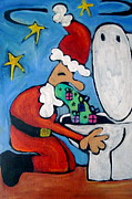 Toilet Painting Originals - Pukin Up Christmas by Carla MacDiarmid