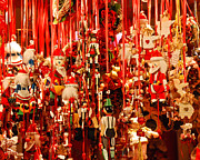 Holiday Decoration Prints - Pull Ornaments Print by David Waldo