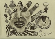 Surrealism Drawings - Pull Tabs by Robert Wolverton Jr