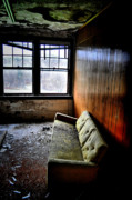 Abandoned Buildings Photo Prints - Pull Up A Couch Print by Emily Stauring