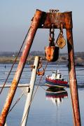 Pull Posters - Pulley System On A Boat Poster by John Short