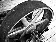Deep Framed Prints - Pulley Wheel from Industrial Sawmill Framed Print by Paul Velgos