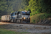 Engine Photos - Pulling Coal by Pamela Baker
