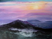 Smoky Mountains Paintings - Pulling Down the Shades by Diana  Tyson
