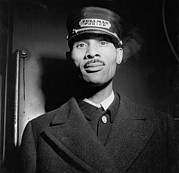 Railroads Photo Metal Prints - Pullman Porter At The Union Station Metal Print by Everett