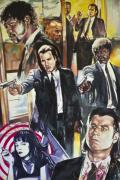Pulp Fiction Framed Prints - Pulp Fiction Framed Print by Alasmar
