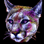 Wildcats Paintings - Puma Portrait by Elinor Mavor