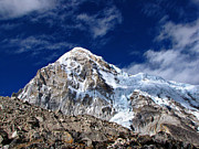 Base Prints - Pumori-everest Base Camp Trek-nepal Print by Copyright Michael Mellinger