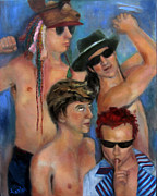 Red Hot Chili Peppers Paintings - Pumped Up by Susan Hanlon