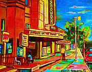Decarie Boulevard Paintings - Pumperniks And The Snowdon Theatre by Carole Spandau