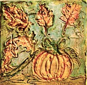D Renee Wilson - Pumpkin and Leaves