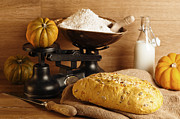 Flour Sack Prints - Pumpkin Bread Print by Christopher and Amanda Elwell
