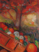 Brilliant Paintings - Pumpkin Cart by Susan Hanlon