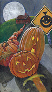 Autumn Holiday Mixed Media - Pumpkin Field Trip by Maureen Heidtmann