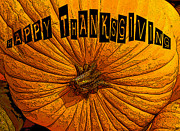 Thanksgiving Art Prints - Pumpkin Holiday Print by David Lee Thompson