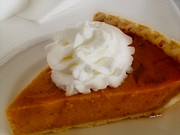 Grocery Store Prints - Pumpkin Pie Print by Cheryl Young