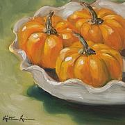 Kristine Kainer Paintings - Pumpkin Pie by Kristine Kainer