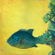 Neo Surrealism Prints - Pumpkin-seed Sunfish Print by Vincent Fink