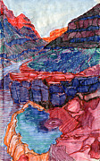 Grand Canyon Drawings - Pumpkin Springs by Scott Barnes