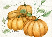 Pumpkins Paintings - Pumpkin Time by Paula Greenlee
