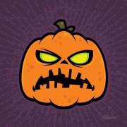 Pumpkin Zombie Print by John Schwegel
