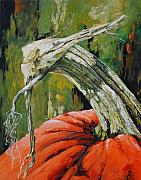 Pumpkin Paintings - Pumpkin1 by Chris Steinken
