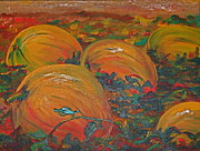 Pumpkins Paintings - Pumpkins by Christine