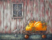 Pumpkins Paintings - Pumpkins for Sale by Ruth Bares