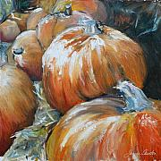 Pumpkins Paintings - Pumpkins by Janice Tanton