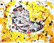 Basketball Abstract Paintings - Pumps. by Sean Moroney
