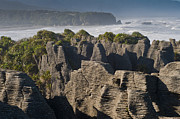 Pancake Prints - punakaiki pancake rock New Zealand Print by Ulrich Schade