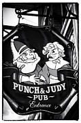 Punch Photo Framed Prints - Punch and Judy Pub Framed Print by John Rizzuto