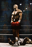 Boxing Paintings - Punch Out - Mike Tyson by Ryan Jones