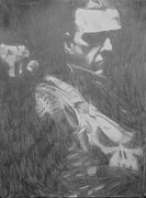 Milton Gore Drawings - Punisher by Milton  Gore