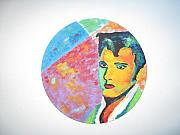 Elvis Presley Painting Originals - Punk by Denise Landis