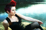 Adam Lecroy Posters - Punk Lady at the Lake Poster by Adam LeCroy