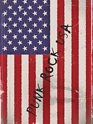 Stars And Stripes Digital Art - Punk Rock USA by Sharon Lisa Clarke
