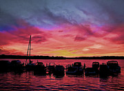 Punta Gorda Sunset Print by Sandy Poore
